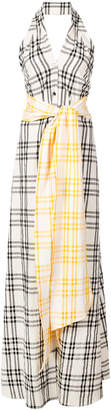Rosie Assoulin checked maxi dress