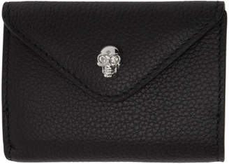 Alexander McQueen Black Leather Mini Coin Wallet