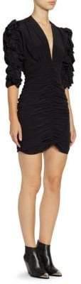 Isabel Marant Andora Silk Ruched Mini Dress