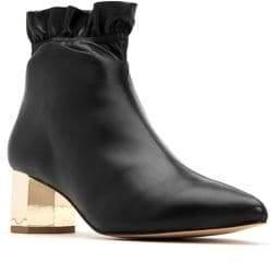 Katy Perry Gigi Hexagon-Heel Leather Booties
