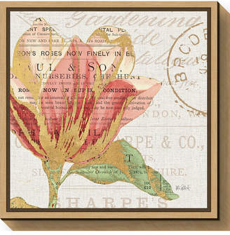 Amanti Art Bookshelf Botanical Iii by Katie Pertiet Canvas Framed Art