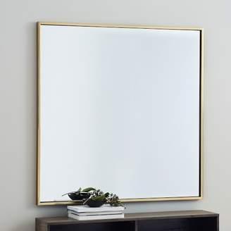 """west elm Metal Framed 42"""" Square Mirror - Antique Brass"""