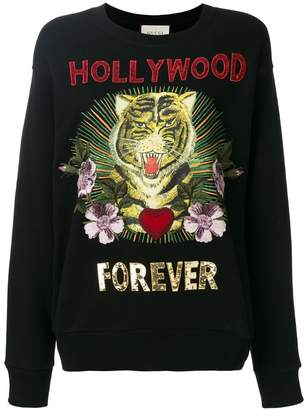 Gucci Hollywood Forever embroidered sweatshirt