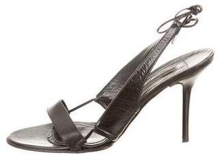 Narciso Rodriguez Lace-Up Leather Sandals