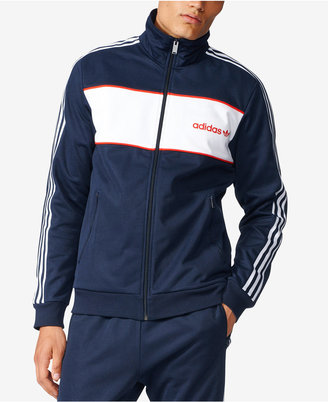 adidas Men's Originals Colorblocked Beckenbauer Track Jacket $75 thestylecure.com