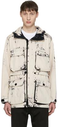 Stone Island Ecru Hand Corosion On Raso Jacket $960 thestylecure.com