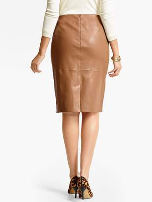 Talbots Stretch Leather Pencil Skirt