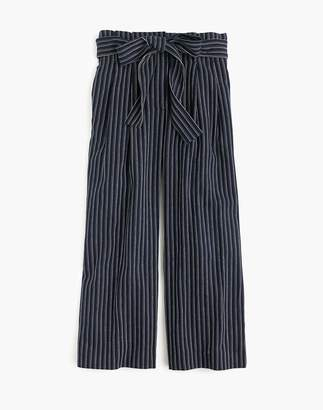 Madewell J.Crew Point Sur Paper-Bag Pants in Stripe