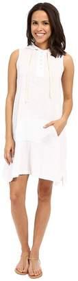 Allen Allen Sleeveless Hooded Henley Dress Women's Dress