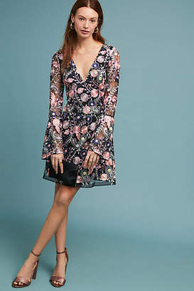 ML Monique Lhuillier x Anthropologie Roupell Embroidered Dress