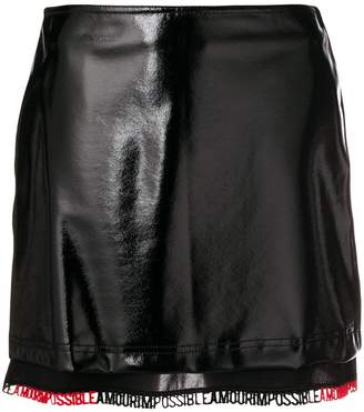 Pinko (ピンコ) - Pinko vernished short skirt