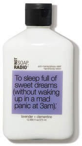 Not Soap Radio To sleep full of sweet dreams anti-mania stress-relief hand and body lotion