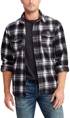 Chaps Men's Regular-Fit Plaid Flannel Shirt Jacket