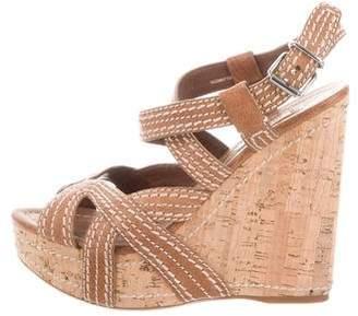 bf86f841356 Miu Miu Brown Covered Heels Women s Sandals - ShopStyle