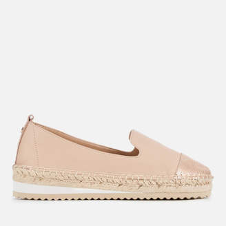 Dune Women's Gavi Leather Espadrilles - Nude
