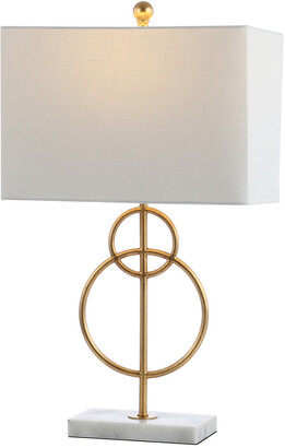 Jonathan Y Designs Haines 26In Modern Circle Marble Metal Led Table Lamp