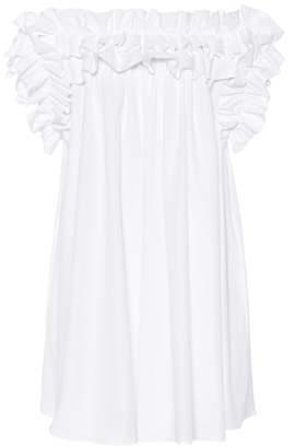 Alexander McQueen Ruffled cotton minidress