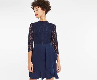 Oasis LACE FLOUNCE SHIFT DRESS