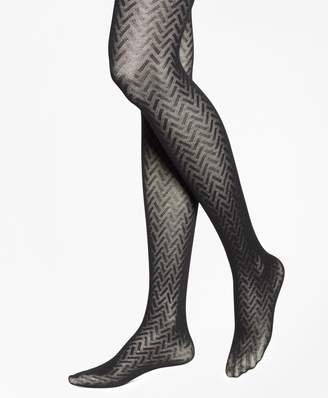 Brooks Brothers Basketweave Cotton Tights