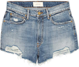 The Great The Destroy Distressed Denim Shorts - Mid denim