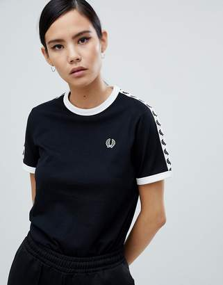 Fred Perry Ringer T-shirt with Taping