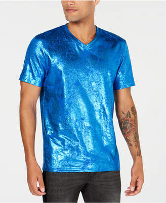 INC International Concepts I.n.c. Men's Metallic V-Neck T-Shirt