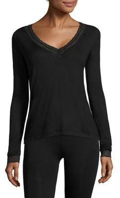 Eberjey Cecilia Long Sleeve Top $74 thestylecure.com