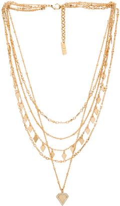 Luv AJ Moonstone Multi Charm Necklace $100 thestylecure.com