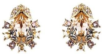 Women's Oscar De La Renta Swarovski Crystal Stud Earrings $175 thestylecure.com