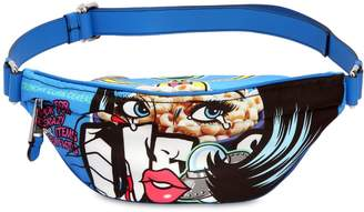 Moschino Eyes Faux Leather Belt Pack