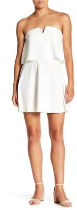 Love...Ady Strapless V-Cutout Popover Dress
