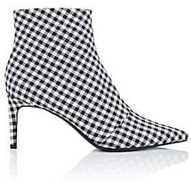 Rag & Bone Women's Beha Gingham Ankle Boots-Navy