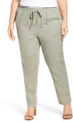 Plus Size Women's Caslon Linen Drawstring Pants $65 thestylecure.com