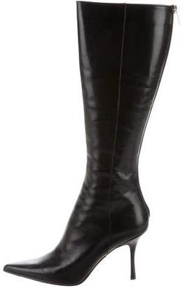 Jimmy Choo Pointed-Toe Knee-Length Boots