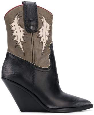 Diesel pointed wedge cowboy boots