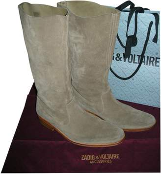 Zadig & Voltaire Beige Leather Boots