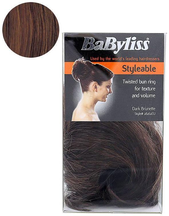 BaByliss® Faux Hair Twisted Bun Ring - Dark Brunette
