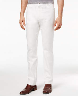 Ryan Seacrest Distinction Men's Slim-Fit Stretch White Denim Five Pocket Pants, Created for Macy's