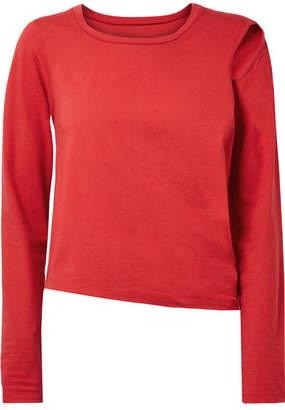 MM6 MAISON MARGIELA Convertible Cutout Stretch Cotton-jersey Top - Red