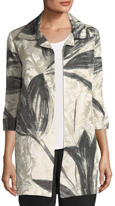 Caroline Rose Natural Light Jacquard Jacket