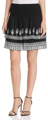 Kobi Halperin Geonna Embroidered Silk Skirt
