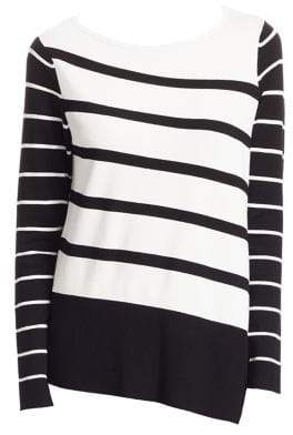Saks Fifth Avenue COLLECTION Asymmetric Stripe Tunic