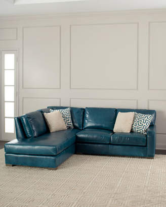 Shariah Leather Left-Chaise Sectional 102""