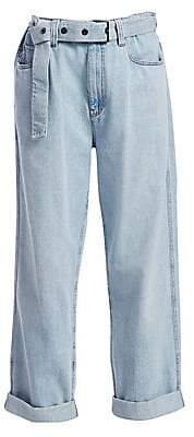 Brunello Cucinelli Women's Relaxed Belted Jeans