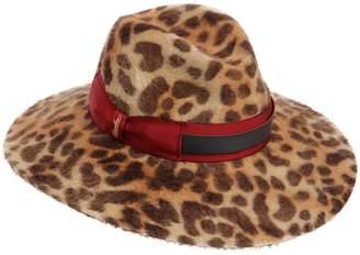 Borsalino SOPHIE LEOPARD PRINT FELT HAT