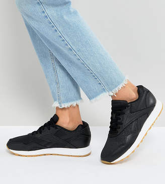 Reebok Classic Rapide Sneakers With Gum Sole In Black