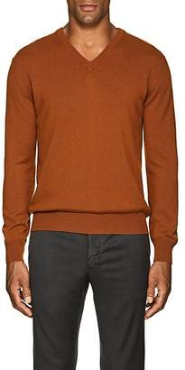 Barneys New York Men's Cashmere V-Neck Sweater - Rust