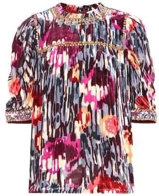 Ulla Johnson Valerie embellished silk-blend top