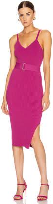 Nicholas Knit Triangle Top Dress in Berry | FWRD