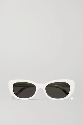 Saint Laurent Betty Square-frame Acetate Sunglasses - White